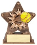 Star Burst Resin Softball Bursting Star Resin Trophy Awards