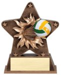 Star Burst Resin Volleyball Bursting Star Resin Trophy Awards