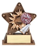Star Burst Resin Cheerleading Bursting Star Resin Trophy Awards