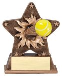 Star Burst Resin Tennis Bursting Star Resin Trophy Awards