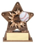 Star Burst Resin Baseball Bursting Star Resin Trophy Awards