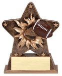 Star Burst Resin Football Bursting Star Resin Trophy Awards