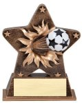 Star Burst Resin Soccer Bursting Star Resin Trophy Awards