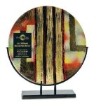 Round Art Glass Award Circle Awards