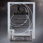 Jade Glass Desk Award Clear Glass Awards