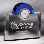 Night and Day Clock Cobalt Glass Awards