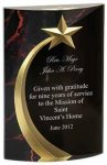 Red Marble Shooting Star Acrylic Colored Acrylic Awards