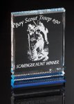 Rectangle with Ribs Colored Acrylic Awards