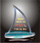 Sail Boat Acrylic Award Colored Acrylic Awards