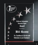 3 Dimensional Carved Star Plaque Colored Acrylic Awards