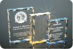 Scalloped Edge Plaque Acrylic Award Colored Acrylic Awards