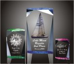 Faceted Rectangle Acrylic Award Colored Acrylic Awards