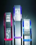 Slant Face Tower Acrylic Award Colored Acrylic Awards