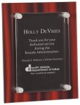 Red Velvet Acrylic Stand-Off Plaque Award Colored Acrylic Awards