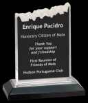 Silver Frosted Impress Acrylic Colored Acrylic Awards