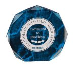 Blue Marble Octagon Acrylic Award Colored Acrylic Awards