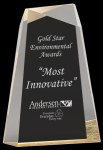 Gold Acrylic Facet Wedge Colored Acrylic Awards