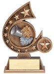 Resin Comet Series Cheerlead Comet Resin Trophy Awards