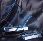 Clear Acrylic Diamond Award on Black Base Contemporary Acrylics
