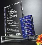 Glendale Goal-Setter Perpetual Crystal Award Contemporary Corporate Crystal Awards