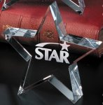 Tapered Star Contemporary Corporate Crystal Awards