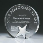 Top Star Circle Crystal Award Contemporary Corporate Crystal Awards