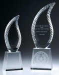 Harmony Flame Crystal Award Contemporary Corporate Crystal Awards