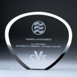 Shell Plaque Crystal Award Contemporary Corporate Crystal Awards