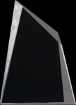 Crystal Facet Wedge Contemporary Corporate Crystal Awards