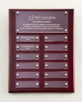 Rosewood High Gloss Perpetual Plaque Contemporary Perpetual Plaques