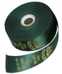 Green Continuous Foil Imprint Ribbons Continuous Imprint Award Ribbons - Custom
