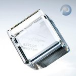 Beveled Diamond Cube Crystal Glass Awards