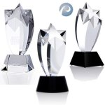 Rising Star Award Crystal Glass Awards