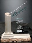 Corinthian Column Crystal Glass Awards