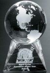 Triad Globe Crystal Glass Awards