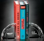 Bookends - Pair Crystal Glass Awards