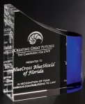 Faceted Wave Crystal Glass Awards