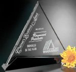 Cavalcade Triangle Crystal Glass Awards