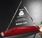 Parkdale Triangle Crystal Glass Awards