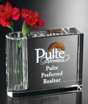 Pen Holder/ Bud Vase Crystal Glass Awards