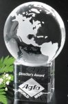 Stratus Globe Crystal Glass Awards