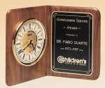 American Walnut Book Clock Desk Clocks