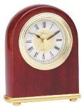 Small Domed Clock - Rosewood Desk Clocks