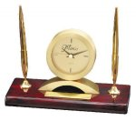 Double Pen Set With Clock Desk Clocks