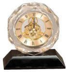 Crystal Clock Award Desk Clocks