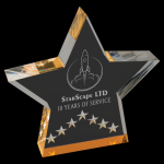 Gold Star Performance Acrylic Employee Awards