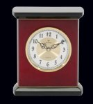 Patriot Rosewood Piano Finish Desktop Clock Employee Awards