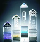 Fluted Pillar Acrylic Award Employee Awards