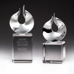 Solid Flame Crystal Award Employee Awards