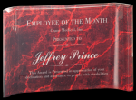 Red Marbleized Acrylic Crescents Employee Awards